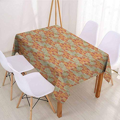 ScottDecor Rectangular Polyester Tablecloth Fabric Tablecloth W 70