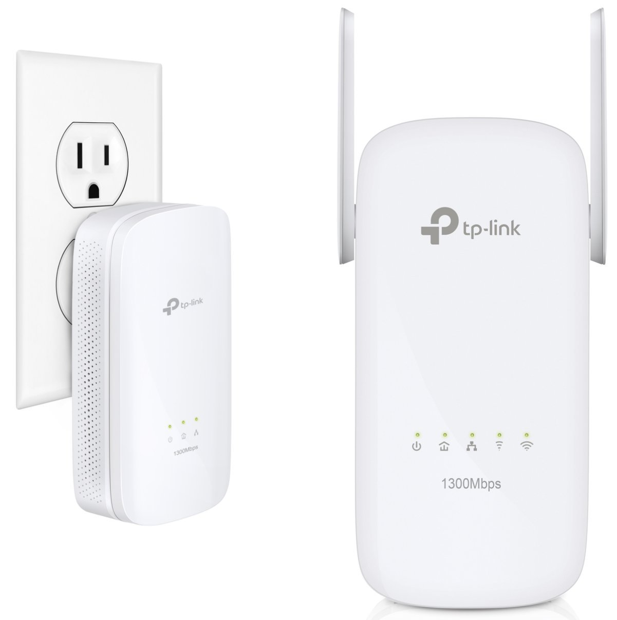 TP-Link AV1300 / AC1350 Gigabit Powerline AC Wi-Fi Kit | HomePlug AV2 Technology w/ Beamforming | Plug, Pair, and Play (TL-WPA8630 KIT V2)