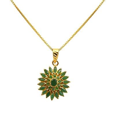 Buy joyalukkas ratna collections 22k 916 yellow gold and emerald joyalukkas ratna collections 22k 916 yellow gold and emerald pendant aloadofball Gallery