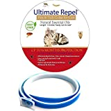 FLEA and Tick Collar for Cats- Flea and Tick Prevention for Cats- 6 MONTH PROTECTION- FLEA Collar for Cats- Cats Flea and Tick Control- HYPOALLERGENIC Safe WATERPROOF Tick Repellent by Ultimate Repel