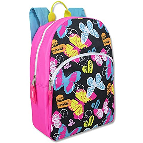 Trailmaker Super Popular Girls Backpack for School, Summer Camp, Travel and Outdoors! (Butterfly) (Backpack With Butterflies)