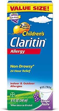 Claritin Children's Allergy Medicine, Non Drowsy Syrup, Loratadine, Antihistamine, Grape, 8 oz