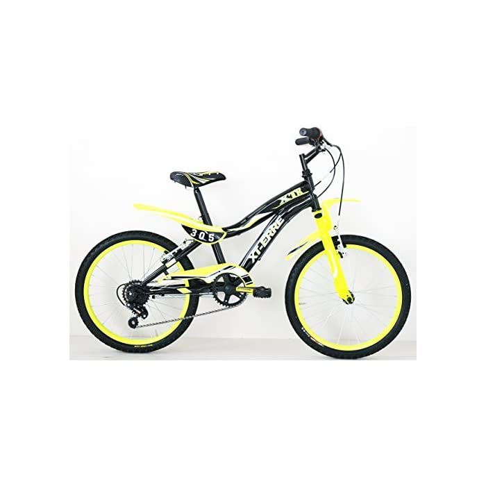 Frejus 20″ CTB Bicicleta, Niños, Negro/Verde, XS