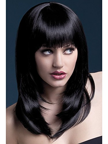 Adult High Temp Resistant Tanja Black Wig