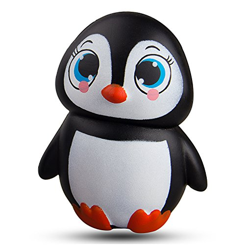 WATINC Kawaii 1 pcs Jumbo Animal squishies Penguin Squishy Slow Rising Sweet Scented Vent Charms Kid Toy Hand Toy, Stress Relief Toy Lovely?Toy Animals/Fruit Gift Fun Large(Penguin)