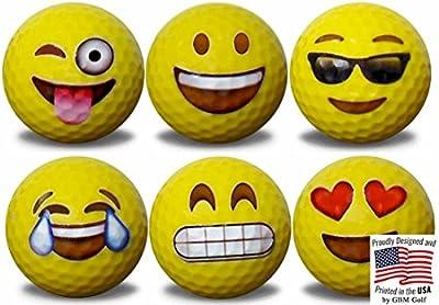 Emoji Golf Balls 6 pack #1