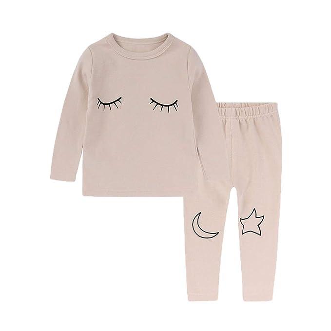 Juleya Conjunto de Pijamas de recién Nacidos para niñas bebé, 2 Piezas de Manga Larga