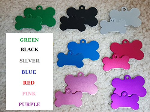 Vet-Recommended-Pet-ID-Tag-Dog-and-Cat-Personalized-Many-Shapes-and-Colors-to-Choose-From-MADE-IN-USA-Strong-Anodized-Aluminum