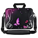 Purple butterfly 13-Inch 13.3-Inch Notebook Laptop Shoulder Case Carrying Bag, Best Gadgets