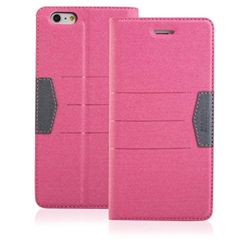 Quality Style Apple iphone 6 plus Case cover, Apple iPhone 6 plus Pink Designer Style Wallet Case Cover