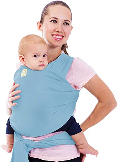 Baby Wrap Carrier All-in-1 Stretchy Baby Wraps - Baby Sling - Infant Carrier - Babys Wrap - Hands Free Babies Carrier Wraps - Baby Shower Gift (Baby Blue)