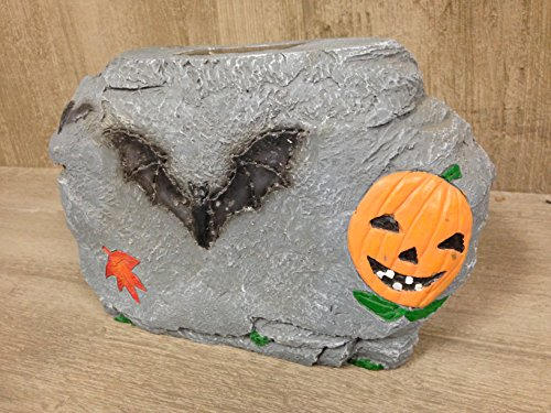 Unique Arts Outdoor Solar Light UP Halloween Faux Rock