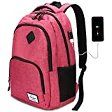 Laptop Backpack with USB Charging Port 15.6 Inch Compartment 35L for Travel Business School Daily Life by AUGUR