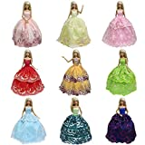 K.T. FANCY 6PCS Handmade Fashion Party Dress Outfit for Barbie Doll