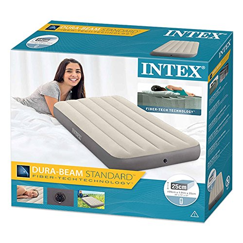 Intex 64102 - Colchón Hinchable Dura-Beam Standard Deluxe Single ...