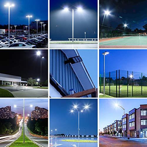 LED Parking Lot Lights 300W Dusk-to-Dawn Photocell Sensor 1000-1200W HID/HPS Replacement Commercial Outdoor Parking Lot Lighting 36000LM 5000K100-277V UL DLC&ETL Listed by LEDMO (Image #6)