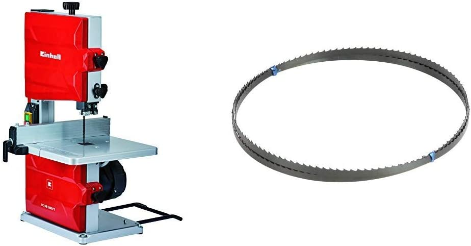 Einhell TC-SB 200/1 Sierra de Cinta (potencia de 250 W, ralentí 1.400 1, velocidad de Hoja 900 m/min, 6 dientes) (ref. 4308018) & Silverline 675295 Hoja para sierra de banda 14 dpp