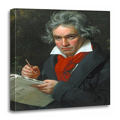 - TORASS Canvas Wall Art Print Music Ludwig Beethoven Portrait Composer Painting Fine Vintage Artwork for Home Decor 20