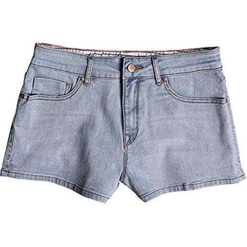 osa Denim Shorts Retro Light Blue 29 & Sunlotion Bundle (Roxy Santa)