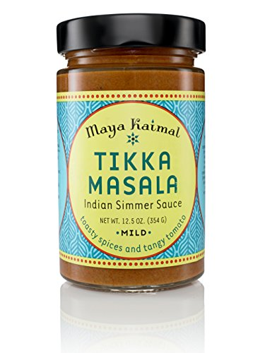 Indian Chicken Curry (Maya Kaimal Tikka Masala Simmer Sauce, Mild, 12.5 oz)