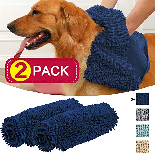 (Flamingo P Microfiber Chenille Towel 2 Pack, Standard Size Towel 24