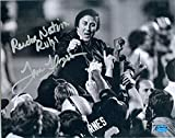 Tom Flores autographed 8x10 Photo (Oakland Raiders Super Bowl Coach) Image #SC2 inscribed Raider Nation Rules. Item comes fully certified with a tamper-evident, serialized hologram and certificate of authenticity. Tom Flores memorabilia. Oakl...