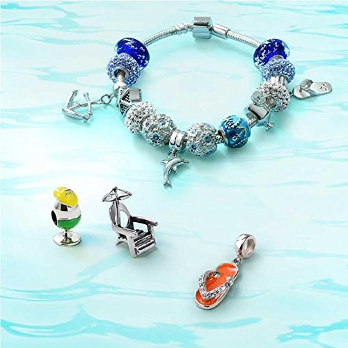 9dc6cc66e Amazon.com: Nautical Dolphin Ocean Sea Life Lucky Dangle Charm Bead For  Women For Teens 925 Sterling Silver Fits European Bracelet: Jewelry