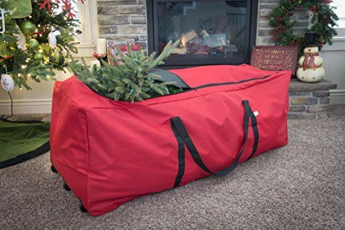 f4e423489892 Santas Bags Rolling Tree Storage Duffel