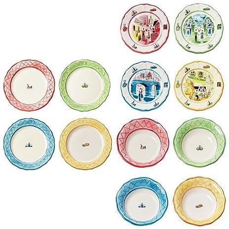 Euro Ceramica American in Paris Complete Dinnerware Collection Bundle u2013 4 Piece Dinner Plate Set +  sc 1 st  Amazon.com & Amazon.com | Euro Ceramica American in Paris Complete Dinnerware ...