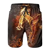 Cool Men Sand Beach Pants Summer Surfer Water Dry House Swimming Drawstring Breaking Man Board Shorts Pockets Jams
