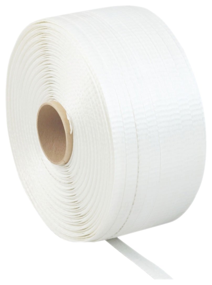 White 3900 Length PAC Strapping 40 CW-SC Regular Duty Woven Cord Strapping 1//2 Width