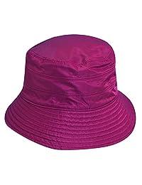 Scala Classico Women's Nylon Water Repellent 3 Inch Brim Lined Rain Hat