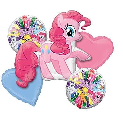Amscan International 3484401 Pinkie Pie Foil Balloon Group Bouquet: Kitchen & Dining