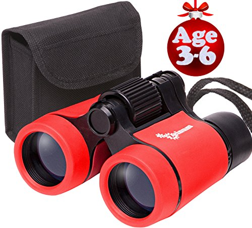 Toy Binoculars for Kids and Toddlers | Christmas or Birthday STEM Gift for Baby Boys Girls and Twins | Great for Party Pretend Play Outdoors and Travel Trips | Best - Toddler Best Gifts Christmas