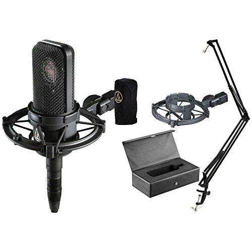 Studio Cardioid At4040 Microphone Condenser (Audio-Technica AT4040 Cardioid Condenser Microphone w/ Boom Arm)