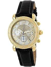"JBW Women's JB-6210L-A ""Victory"" Black Gold Leather Diamond Watch"