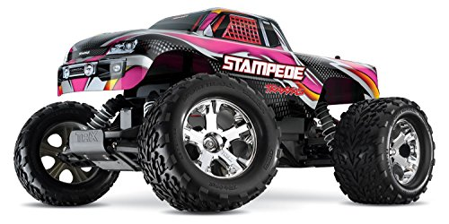 Traxxas Stampede 1/10 Scale 2WD Monster Truck with TQ 2.4GHz Radio, Pink