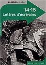 14-18 Lettres d'écrivains par Sévin