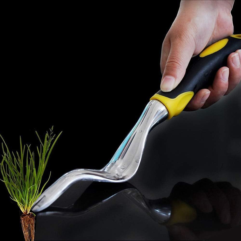 KKmoon Pala de Eliminar Malas Hierbas,Extractor Quita Desherbador Manual de Mango de Madera de Jard/ín de Goma Aleaci/ón
