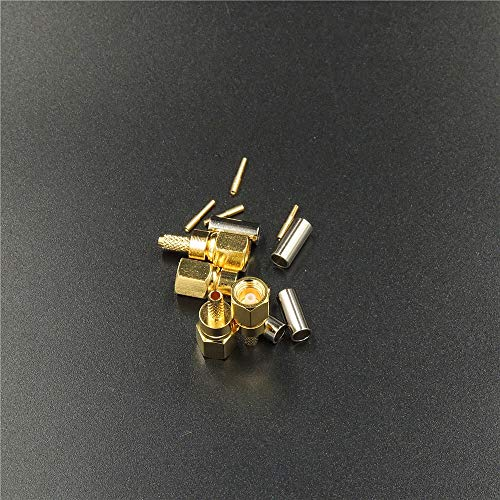 - LINKICH SMC Female Crimp Jack RF Connector for RG316 RG174 LMR100 RG179 RG188 Coax coaxial Cable Adapter