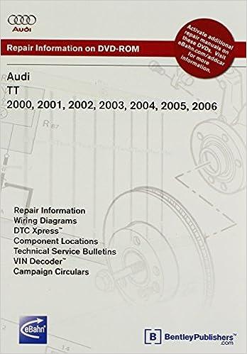 audi tt 2000, 2001, 2002, 2003, 2004, 2005, 2006 repair manual on dvd-rom  (windows 2000/xp): audi of america: 9780837613772: amazon com: books