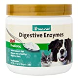 NaturVet Digestive Enzymes Plus Probiotic for Dogs and Cats, 8 oz Powder, Made in USA