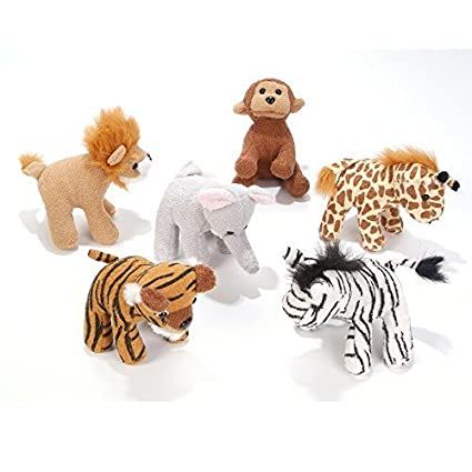 Amazon Com 5 Inch Zoo Animal Plush Bulk Pack Of 12 Pieces By