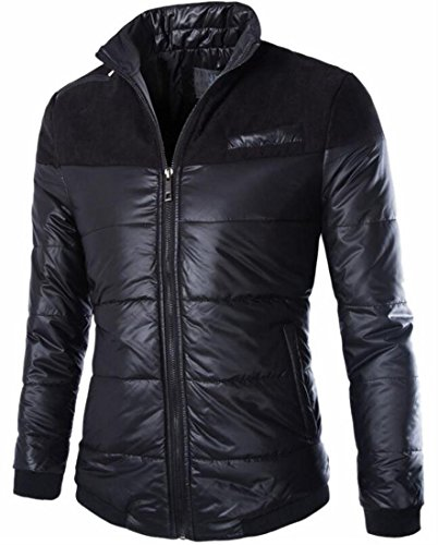 Jacket Black today Stylish Thin Pure Plus Size Colour UK Puffer Men Zipper HHv7Sq