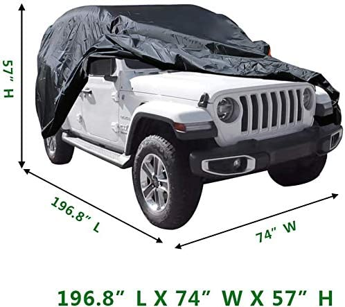 Luanoy Car Cover Replacement for Jeep Wrangler 2004-2019 Unlimited 4 Door SUV