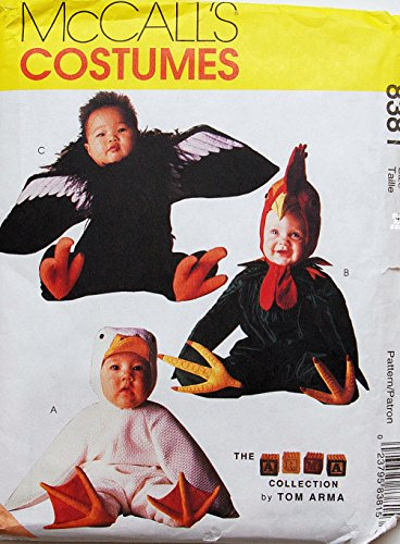 McCall's 8381 Toddler Duck Rooster Condor Costume Sewing Pattern Tom Arma Halloween Size 4