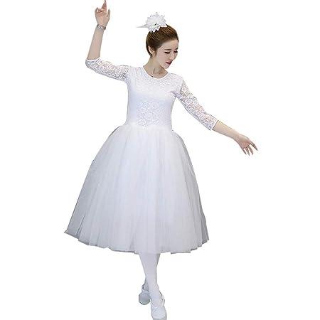 Jian E Falda de Ballet Adulto Falda de tutú Blanco Mullido Cisne ...