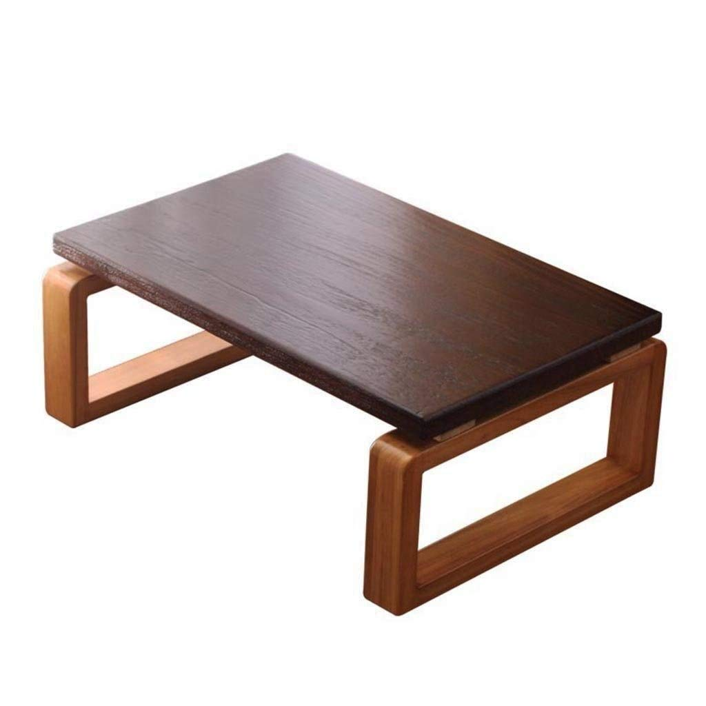 Brown 604030cm Coffee Tables Solid Wood Small Coffee Table Mini Bedroom Coffee Table Small Apartment Coffee Table Study Balcony Living Room Creative Coffee Table Bed Retro Style ( color   Brown , Size   604030cm )
