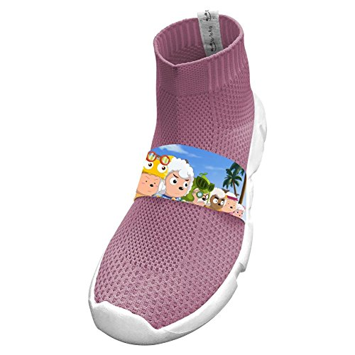Cute Sheep Friends Running No Tie Pink Shoes For Boys 3 B(M) Us Big Kid ()