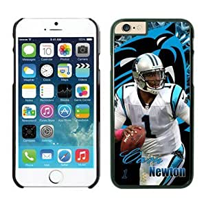 NFL Carolina Panthers Cam Newton iPhone 6 Cases Black 4.7 Inches NFLIphoneCases13193 by kobestar